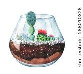 watercolor illustration.... | Shutterstock . vector #588010328