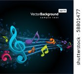 3d colorful music background... | Shutterstock .eps vector #58801477