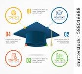 student hat menu infographic... | Shutterstock .eps vector #588016688