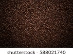 texture of coffee beans | Shutterstock . vector #588021740