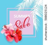 summer sale concept. summer... | Shutterstock .eps vector #588025124