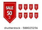 set of sale banner template... | Shutterstock .eps vector #588025256