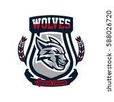 colourful emblem  logo  sticker ...   Shutterstock .eps vector #588026720