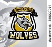colourful emblem  logo  sticker ...   Shutterstock .eps vector #588027014