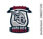 colourful emblem  logo  sticker ...   Shutterstock .eps vector #588027140