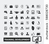 training development icons  | Shutterstock .eps vector #588028730