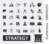 strategy icons  | Shutterstock .eps vector #588030254