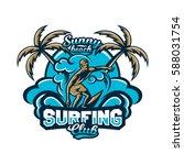 colourful emblem  logo  sticker ... | Shutterstock .eps vector #588031754