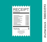 receipt icon. paper invoice.... | Shutterstock .eps vector #588033593