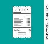 receipt icon. paper invoice.... | Shutterstock .eps vector #588033593