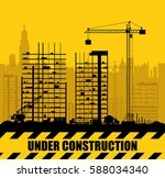 construction site with... | Shutterstock .eps vector #588034340