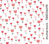 seamless pattern with tulips on ... | Shutterstock .eps vector #588036698