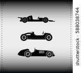 set of sport car icons. retro... | Shutterstock .eps vector #588038744