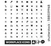 workplace icons | Shutterstock .eps vector #588039968