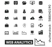 web analytics icons | Shutterstock .eps vector #588040190