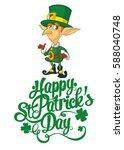 happy st. patrick's day... | Shutterstock .eps vector #588040748