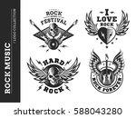rock music festival logo ...   Shutterstock .eps vector #588043280