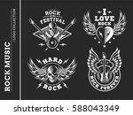 rock music festival logo ... | Shutterstock .eps vector #588043349