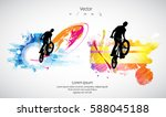 silhouette of bicycle jumper | Shutterstock .eps vector #588045188