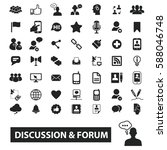 discussion forum icons  | Shutterstock .eps vector #588046748
