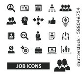 job icons  | Shutterstock .eps vector #588046754