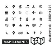 map elements icons | Shutterstock .eps vector #588046934