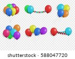 vector collection of realistic... | Shutterstock .eps vector #588047720