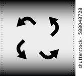 bent arrows icon. | Shutterstock .eps vector #588048728