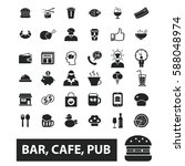 bar  cafe  cafeteria  pub icons | Shutterstock .eps vector #588048974