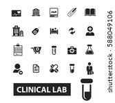 clinical lab icons  | Shutterstock .eps vector #588049106