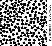 black and white retro pattern... | Shutterstock .eps vector #588054200