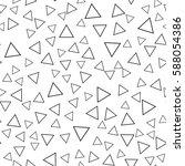 black and white retro pattern... | Shutterstock .eps vector #588054386