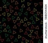 black and white retro pattern... | Shutterstock .eps vector #588054404