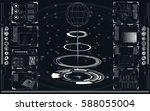 set of black and white... | Shutterstock .eps vector #588055004