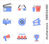 vector illustration of cinema...