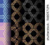 set of abstract seamless... | Shutterstock .eps vector #588057194