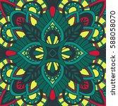 mandala vector ornament.... | Shutterstock .eps vector #588058070