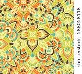 mandala vector ornament.... | Shutterstock .eps vector #588058118