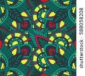mandala vector ornament.... | Shutterstock .eps vector #588058208