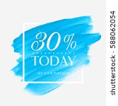 sale today 30  off sign over... | Shutterstock .eps vector #588062054