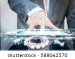 close up of business man... | Shutterstock . vector #588062570