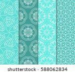 seamless ornamental pattern set.... | Shutterstock .eps vector #588062834