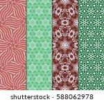 set of modern floral pattern of ... | Shutterstock .eps vector #588062978