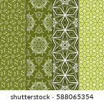 set of modern floral pattern of ... | Shutterstock .eps vector #588065354