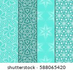 set of romantic geometric... | Shutterstock .eps vector #588065420