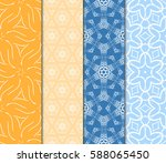 seamless set floral pattern.... | Shutterstock .eps vector #588065450
