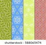 seamless patterns set. vintage... | Shutterstock .eps vector #588065474
