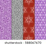 set of decorative geometric... | Shutterstock .eps vector #588067670