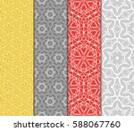 set of romantic geometric... | Shutterstock .eps vector #588067760