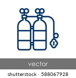 diving oxygen tank icon | Shutterstock .eps vector #588067928